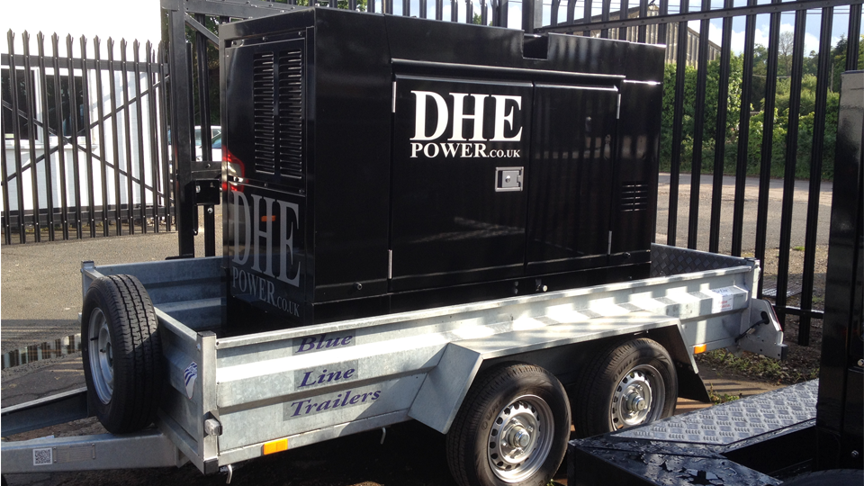Sussex Stage Hire 60KVA Ultra Silent Road Towable Diesel Generator