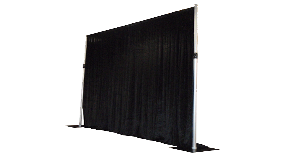 Catwalk Hire 1 with drapes
